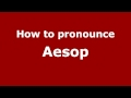 Frame from How to Pronounce Aesop - PronounceNames.com