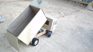 How to make a dump truck out of cardboard