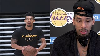 Danny Green At Lakers Practice; Talks LeBrons Leadership, The Orlando Bubble & More. HoopJab NBA