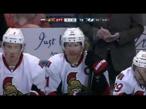 Daniel Alfredsson Goal (Ottawa Senators vs Tampa Bay Lightning April 9, 2013) NHL HD