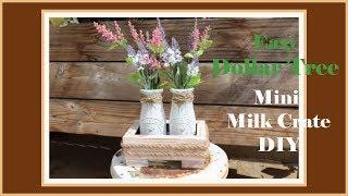 Mini Farmhouse Milk Bottle Crate