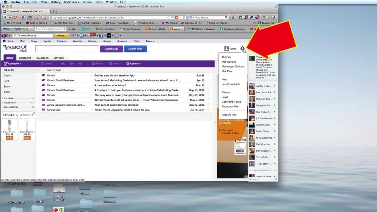 how to close yahoo account temporarily
