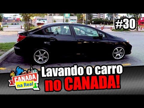 Lavando o carro no Canadá   CANADÁ NA REAL