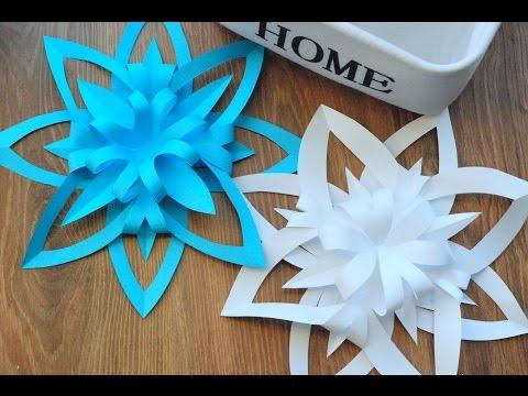 Jak Zrobić Trójwymiarową śnieżynkę Z Papieru / How To Make A 3D Paper Snowflake