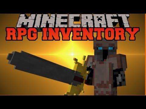 Minecraft Mod Showcase - RPG Inventory Mod - Mod Review