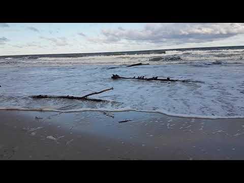 Januar 2019 Zeetje Sturm Insel Usedom Ostsee Unwetter Koserow