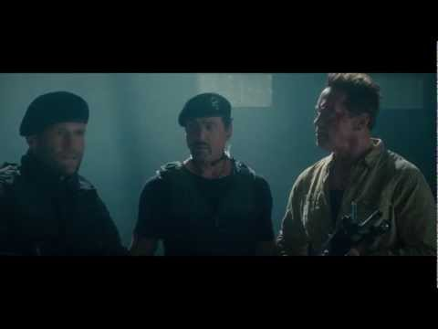 The Expendables 2 funny Arny scene 1080p