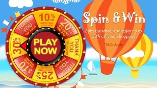Spin to Win Prize Wheel Game Marketing - Interactive Touch Screen Kiosk Solutions by LobbyPad