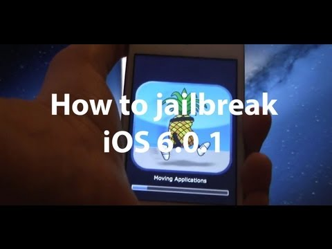 How to jailbreak iOS 6.0.1 on iPhone 4. iPhone 3GS and the iPod touch 4G