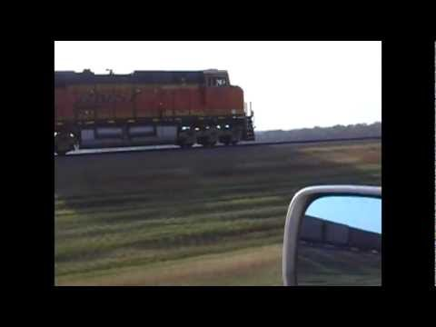 BNSF 6377 powering up and pacing sequence (awesome audio!)
