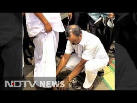 Kerala Speaker in trouble after aide seen helping him with shoes