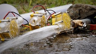 Free Energy from Stream , Micro hydro turbines. | DIY |