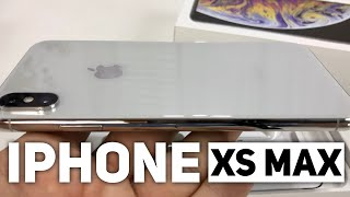 Silver iPhone Xs Max Unboxing
