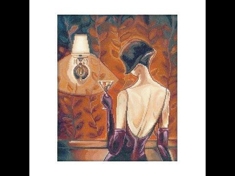 Вышивка крестом эффектные женщины