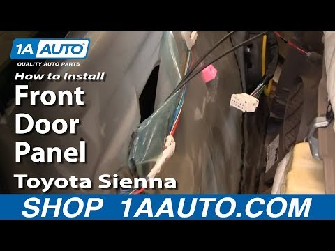 How To Install Replace Remove Front Door Panel Toyota Sienna 04-10 1AAuto.com