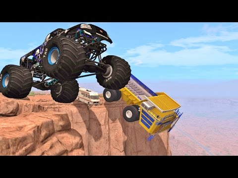 BeamNG Drive CLIFF JUMPS & CRASHES #86
