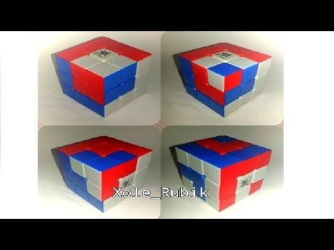 4 patrones para cubo de rubik 3x3x3 ( primera parte )