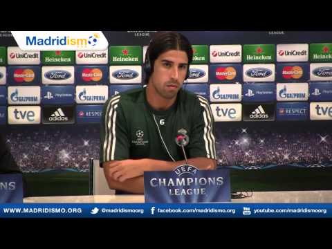 Sami Khedira Press Conference, Champions League, Real Madrid vs Manchester City (English)