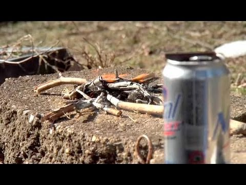 How to Start a Fire with an Aluminum Can & a Chocolate Bar