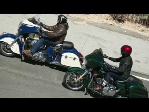 2015 Indian Chieftain vs. Harley Street Glide Part 2 - MotoUSA
