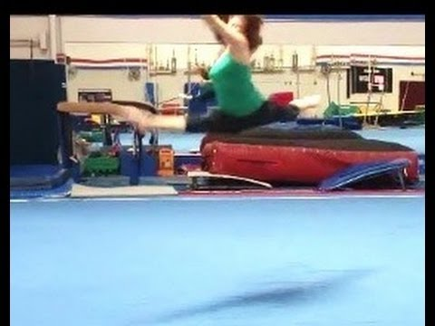 How To Do A Switch Leap With Coach Meggin (Professional Gymnastics Coach)