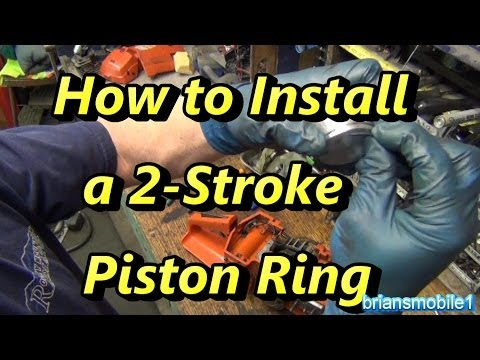 How to Install a 2 Stroke Piston Ring Quick Tip