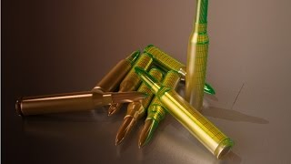 Tutorial #02  Vray rendering machine gun bullets (3ds max) [1080p]