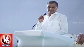 Minister Harish Rao Powerpoint Presentation Over Kaleshwaram And Ramadugu Projects | Karimnagar