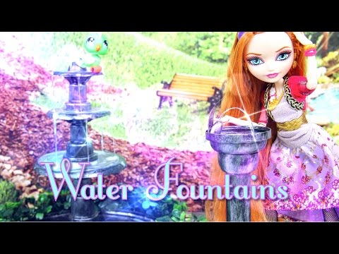 How to make Doll Water Fountains - Doll Crafts
