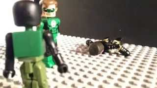 Green Lantern 3 minimates lego stopmotion video greenlanter