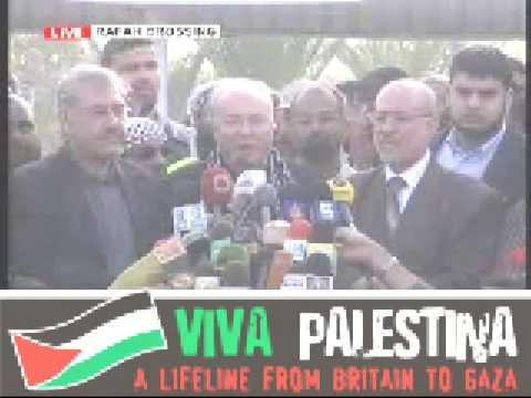 خطاب غالاوي Viva Palestina breaks Gaza siege Galloways Speech