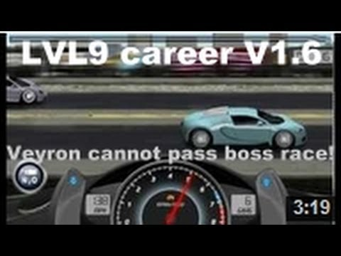 Drag Racing level 9 career Bugatti Veyron 16.4 1 tune setup (CANNOT WIN BOSS RACE)