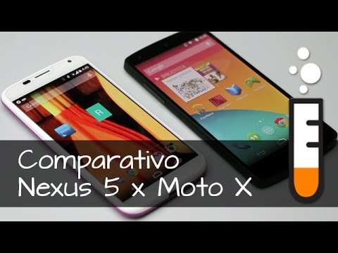 Nexus 5 x Moto X - Vídeo Comparativo Brasil