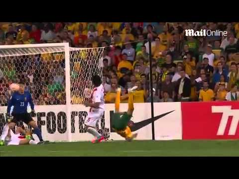 Is this Australia's greatest goal ever? Tim Cahill's wonder strike - complete with scissor kick - s