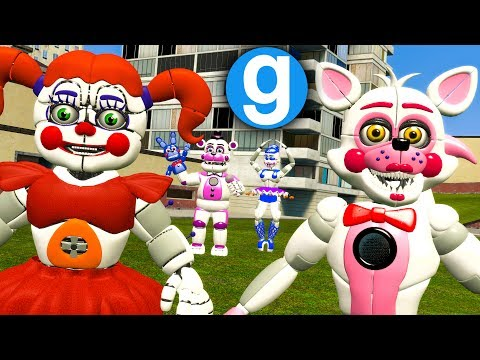 NEW FNAF SISTER LOCATION PILL PACK REVIEW! (Gmod FNAF Sandbox Funny Moments)(Garry's Mod)