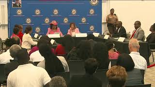 VIDEO: Haitian Round-table with House Speaker Nancy Pelosi and Rep. Frederica Wilson in Miami Florida