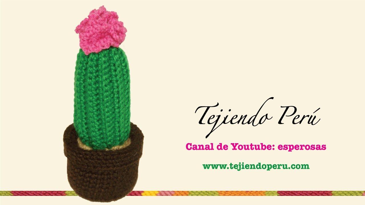 Amigurumi Cactus Paso A Paso : Cactus con flor grande tejido en crochet amigurumi youtube