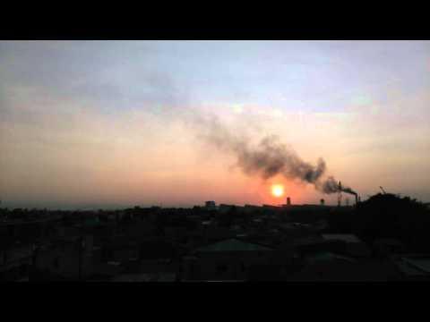 Sunrise vs Air Pollution