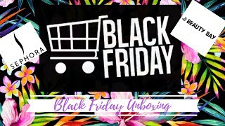 Black Friday! Unboxing Beautybay + comprises Sephora