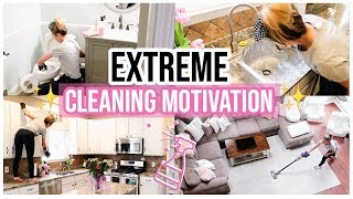 EXTREME CLEANING MOTIVATION ✨💪CLEAN WITH ME HOUSE DECLUTTER + CLEANING VIDEO | Brianna K