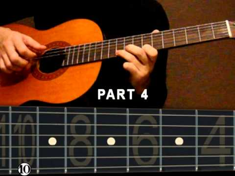 Guitar lesson Yiruma - River flows in you(solo) Part2 Music Videos