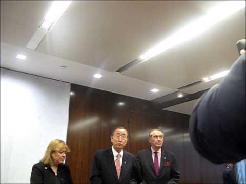 At UN, Ban Ki-moon's Return to 38th Floor, Dec 17, 2012