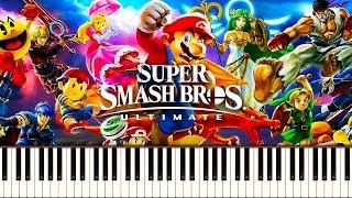 SUPER SMASH BROS. ULTIMATE THEME - Piano Tutorial