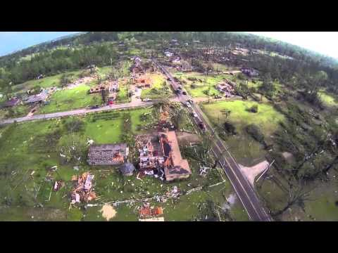 Tupelo Mississippi Tornado Aftermath Footage as seen from a DJI Phantom