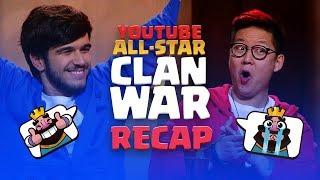 Clash Royale: YouTube All-Star 5v5 Clan War RECAP!