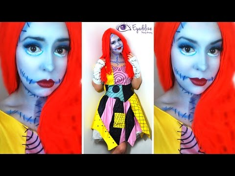 Sally Nightmare Before Christmas Makeup Tutorial & Costume with EyedolizeMakeup