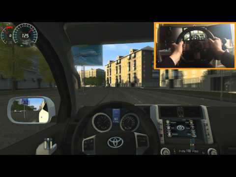 █▓▒░ Toyota Land Cruiser + G27 & Trackir 5 City Car Driving 1.3.3