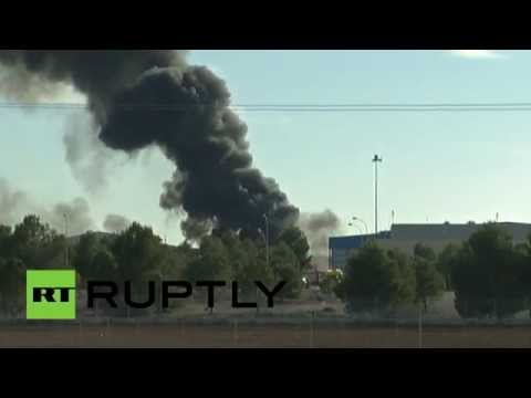 F-16 air base crash footage: At least 10 die after takeoff fail