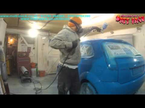 PlastiDip a car with an airgun and compressor