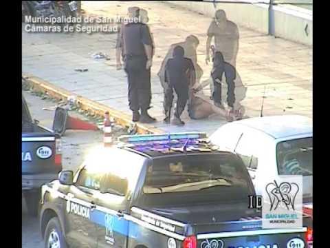 San Miguel: Cámaras de seguridad captan femenina violenta